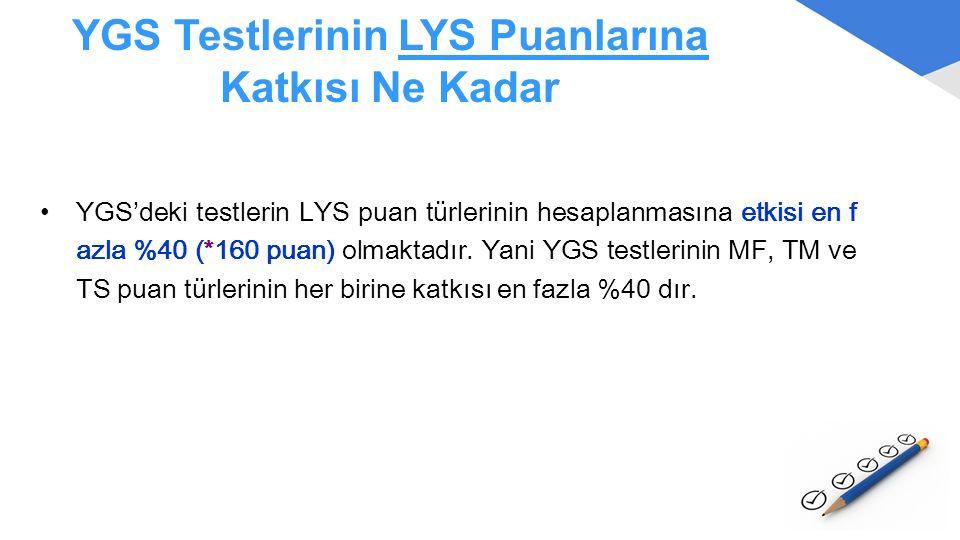 YGS Testlerinin LYS Puanlarına Katkısı Ne Kadar