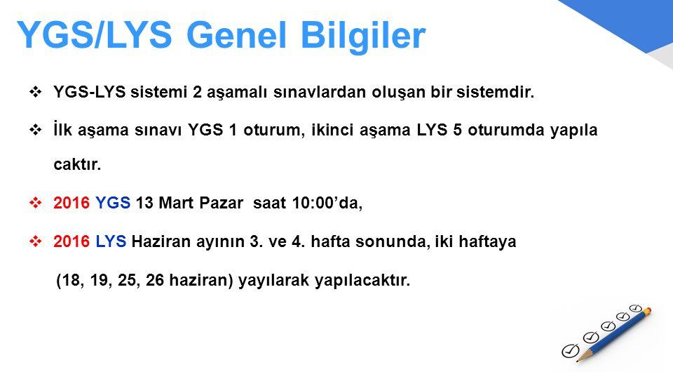 YGS/LYS Genel Bilgiler