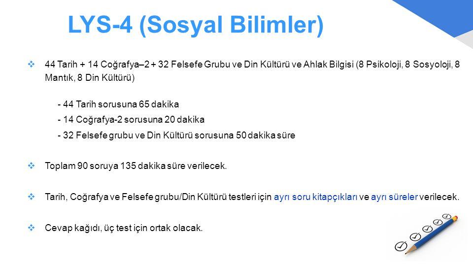 LYS-4 (Sosyal Bilimler)