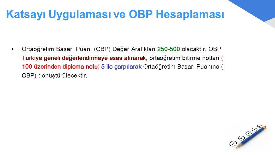 Katsayı Uygulaması ve OBP Hesaplaması
