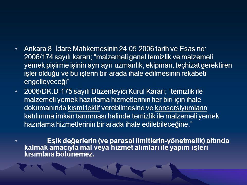 Ankara 8. İdare Mahkemesinin 24. 05