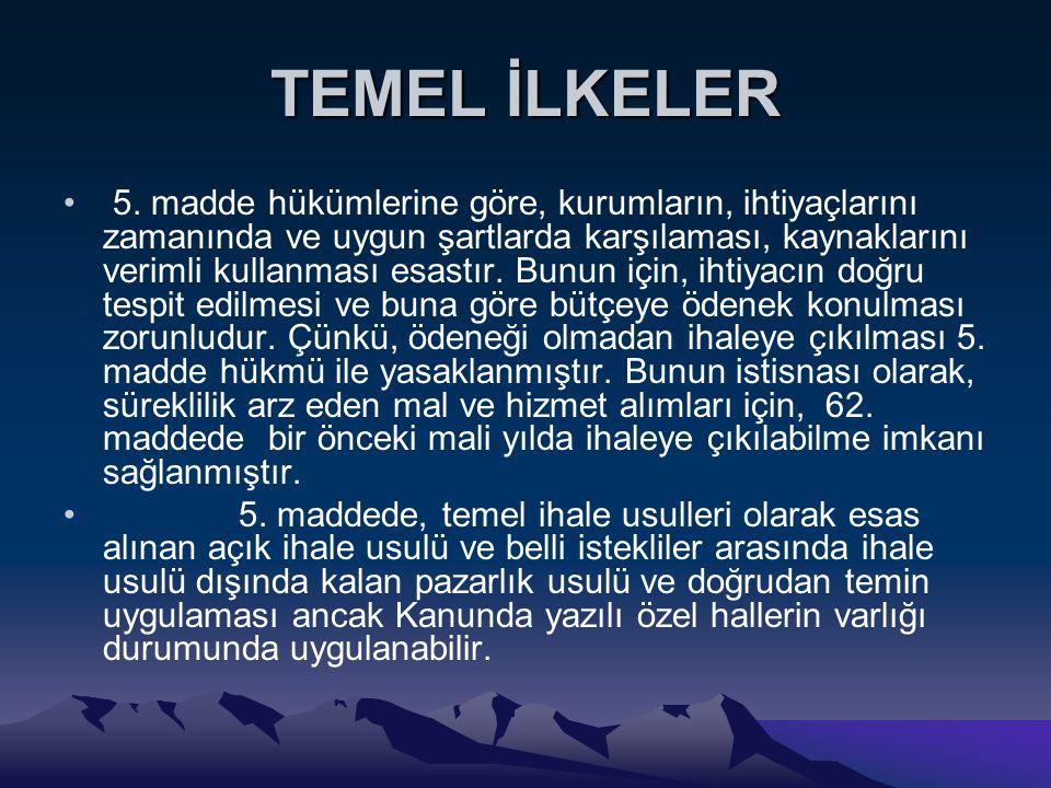 TEMEL İLKELER