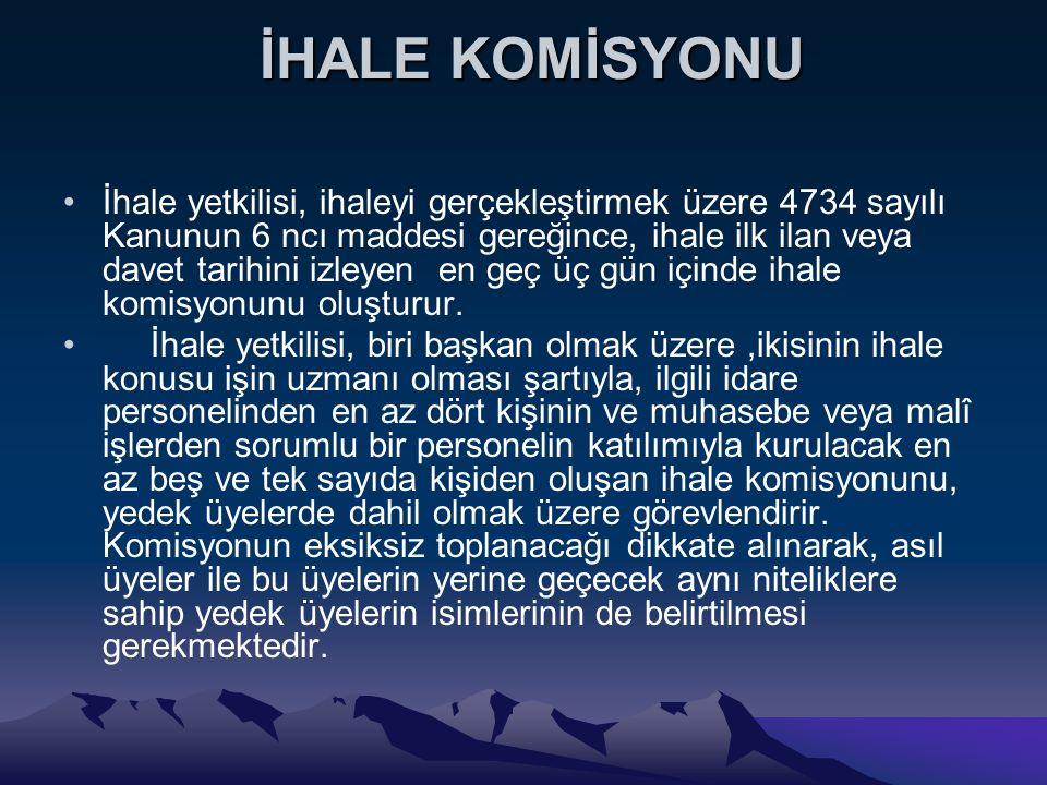 İHALE KOMİSYONU