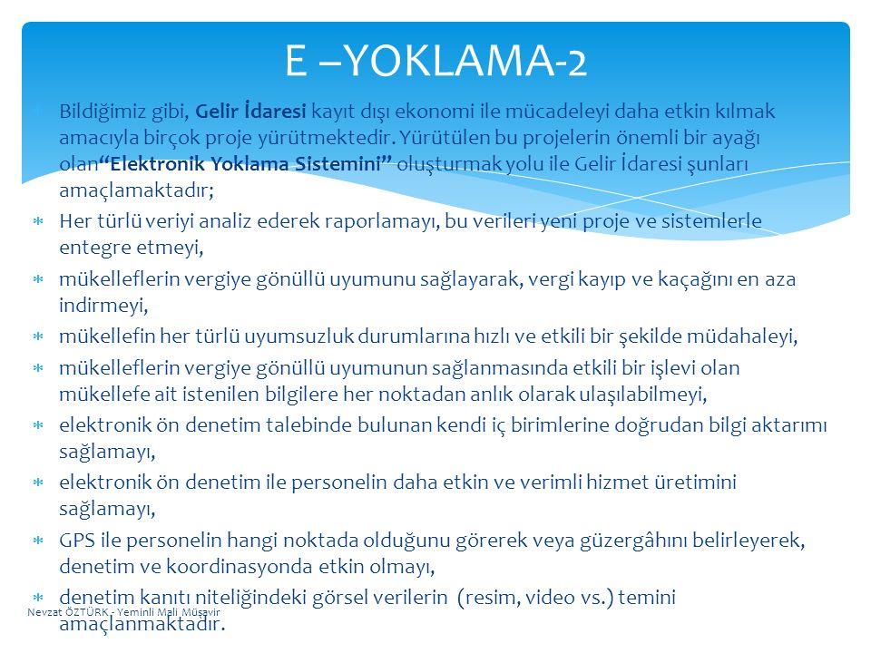 E –YOKLAMA-2