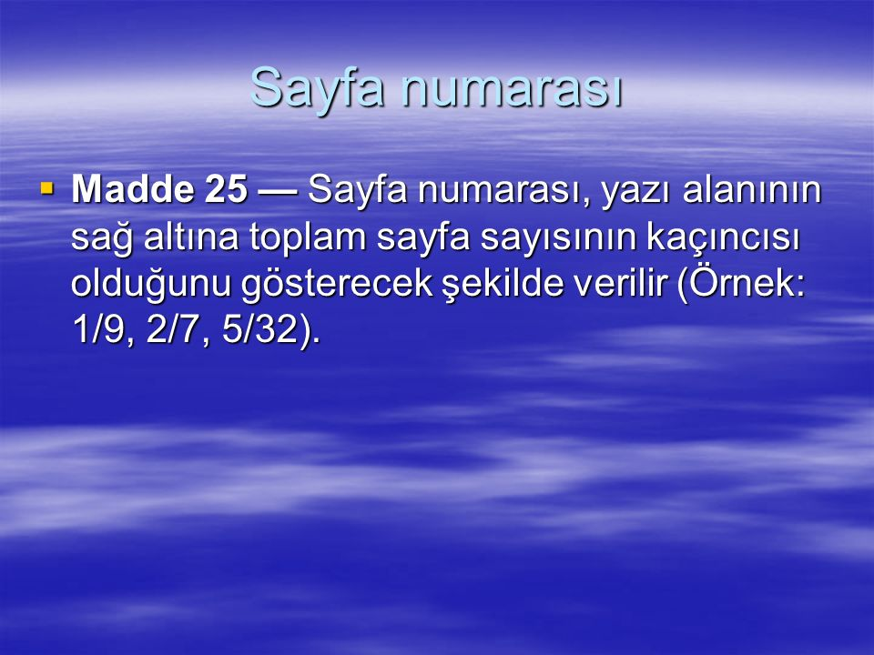 Sayfa numarası