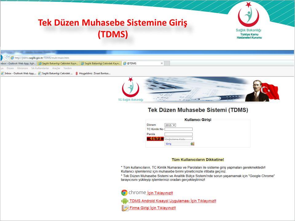 Tek Düzen Muhasebe Sistemine Giriş (TDMS)