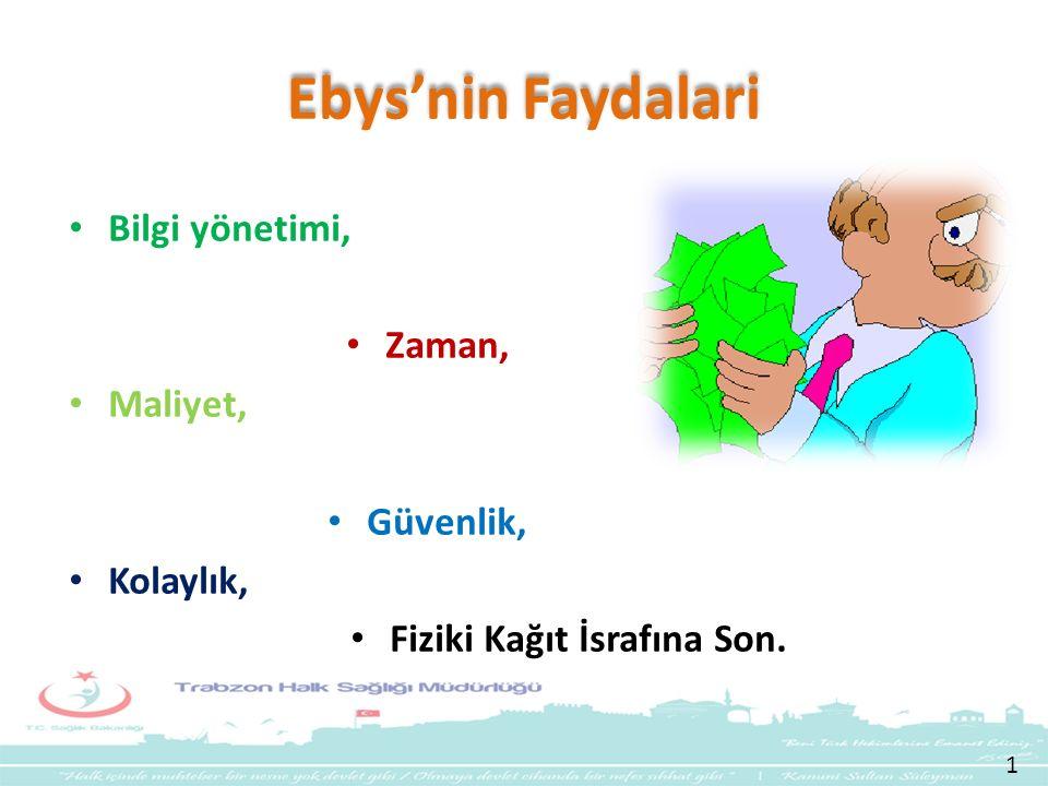 Ebys'nin Faydalari Bilgi yönetimi, Zaman, Maliyet, Güvenlik, Kolaylık,