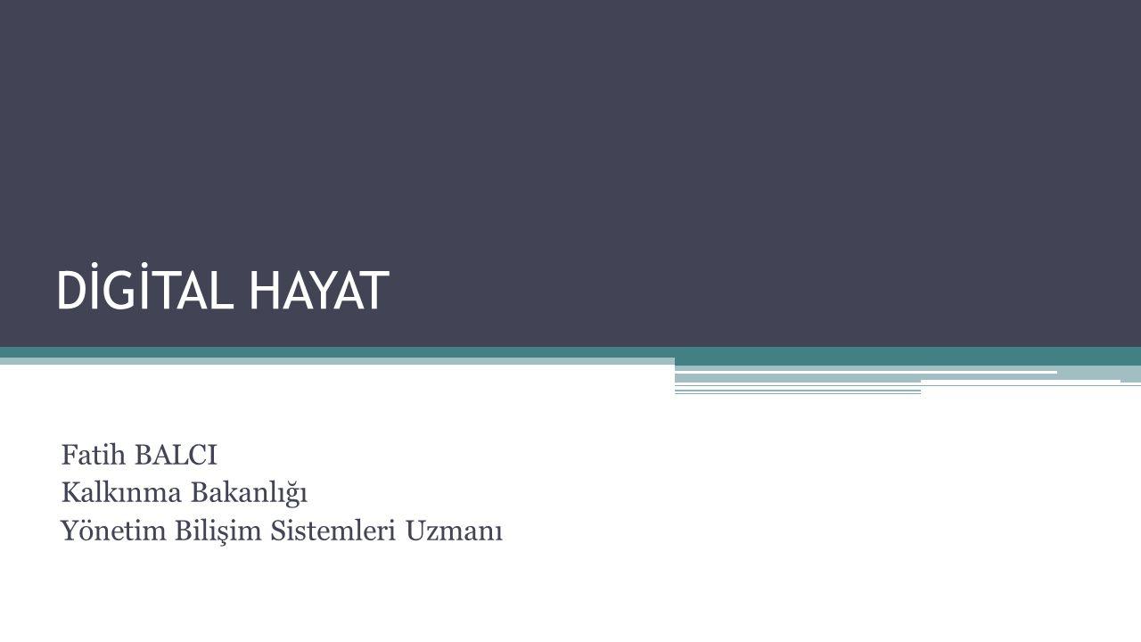Fatih BALCI Kalkınma Bakanlığı Yönetim Bilişim Sistemleri Uzmanı