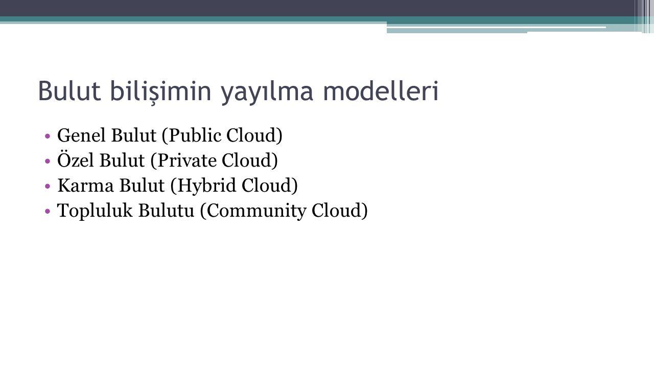 Bulut bilişimin yayılma modelleri
