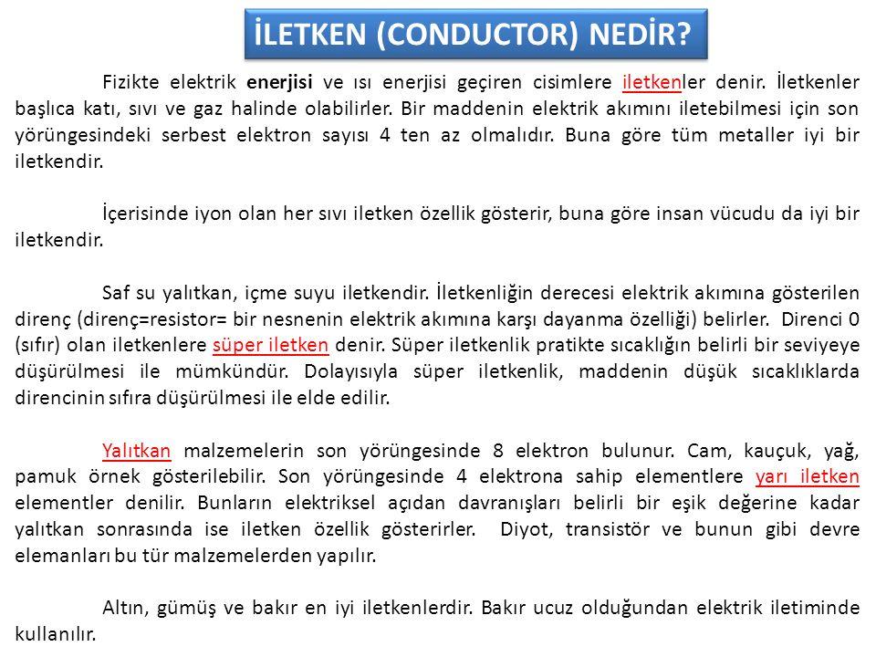 İLETKEN (CONDUCTOR) NEDİR