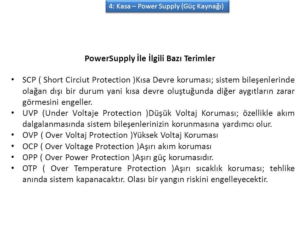 PowerSupply İle İlgili Bazı Terimler