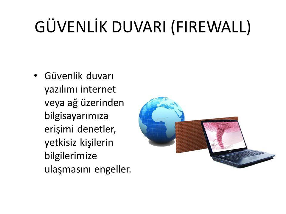 GÜVENLİK DUVARI (FIREWALL)