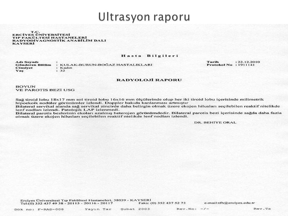 Ultrasyon raporu