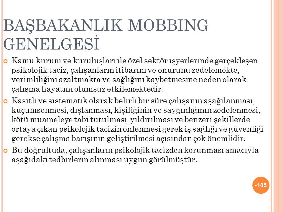 BAŞBAKANLIK MOBBING GENELGESİ