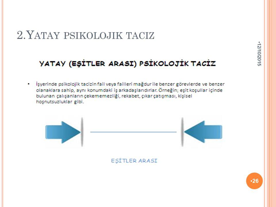 2.Yatay psikolojik taciz