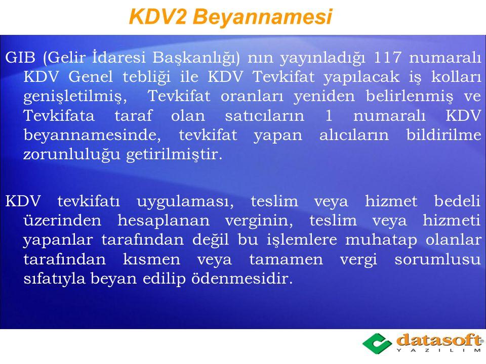 KDV2 Beyannamesi