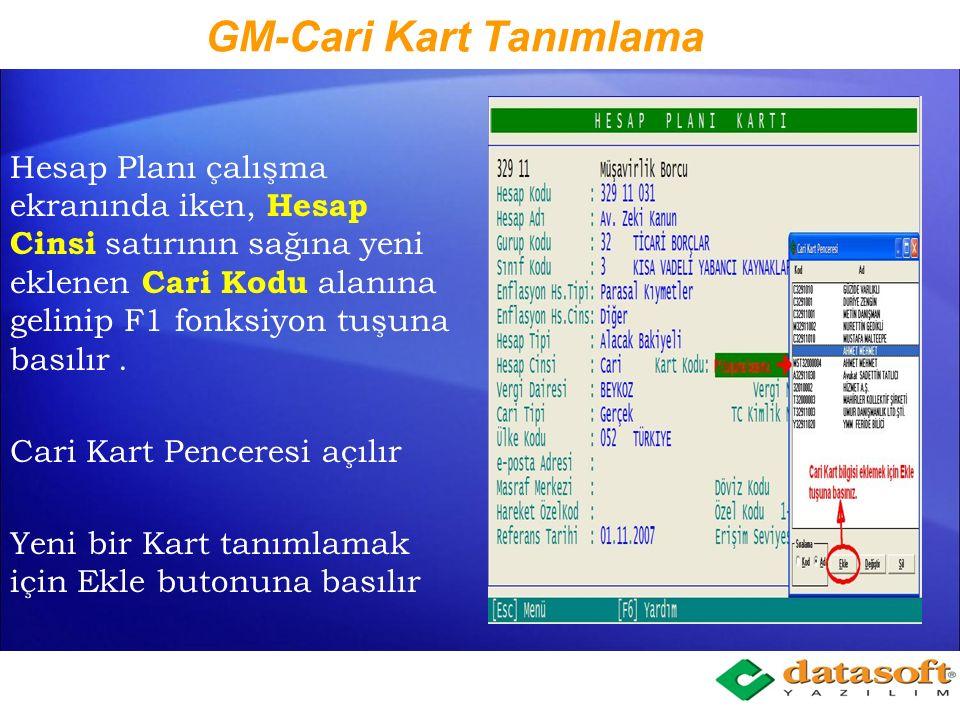 GM-Cari Kart Tanımlama