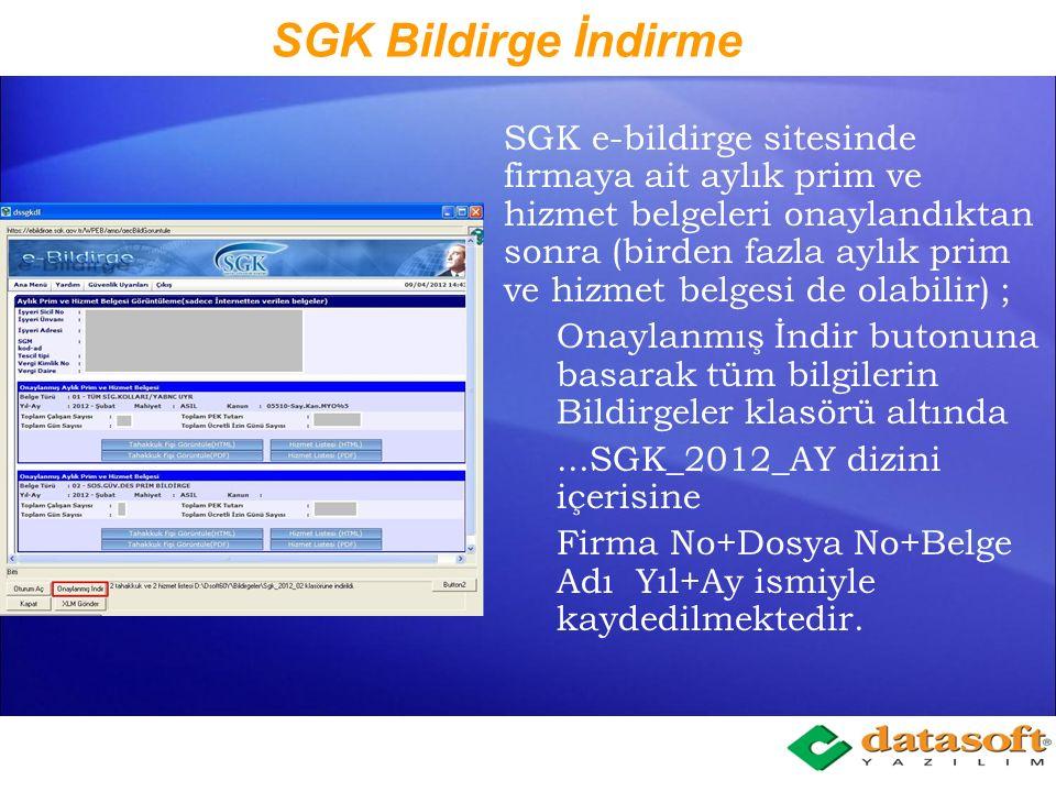 SGK Bildirge İndirme
