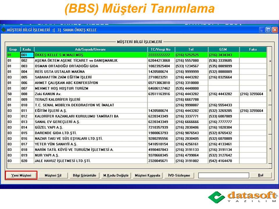 (BBS) Müşteri Tanımlama
