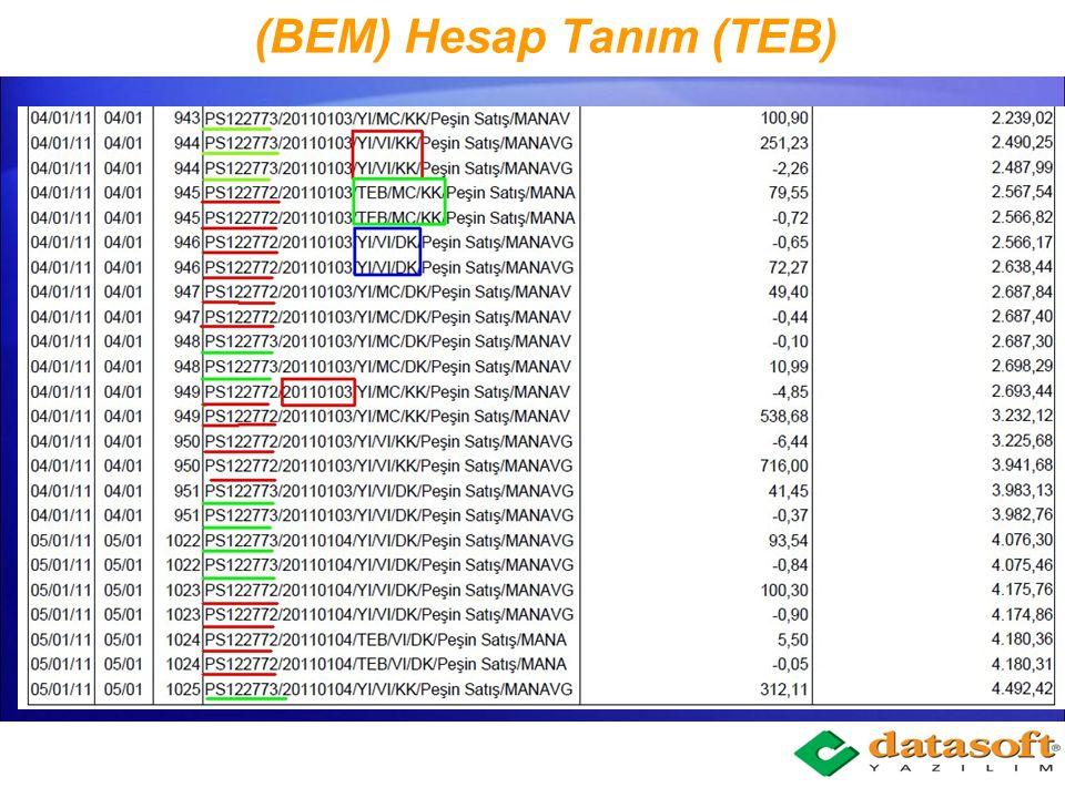 (BEM) Hesap Tanım (TEB)