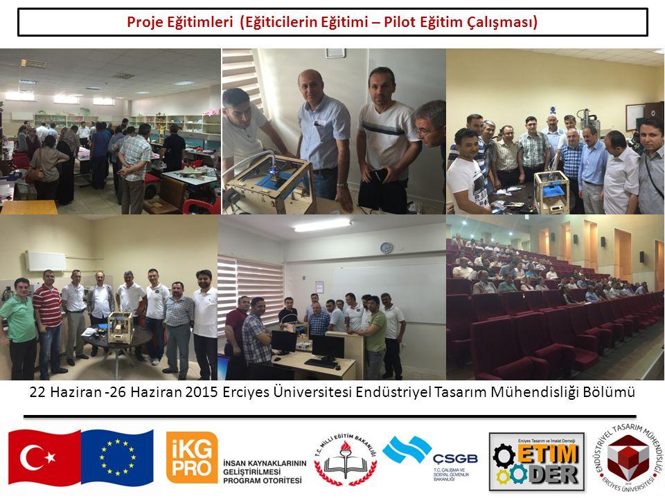 Proje Eğitimleri (Eğiticilerin Eğitimi – Pilot Eğitim Çalışması)