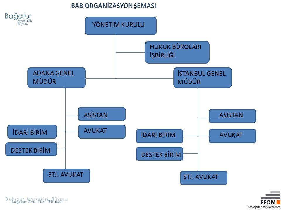 BAB ORGANİZASYON ŞEMASI
