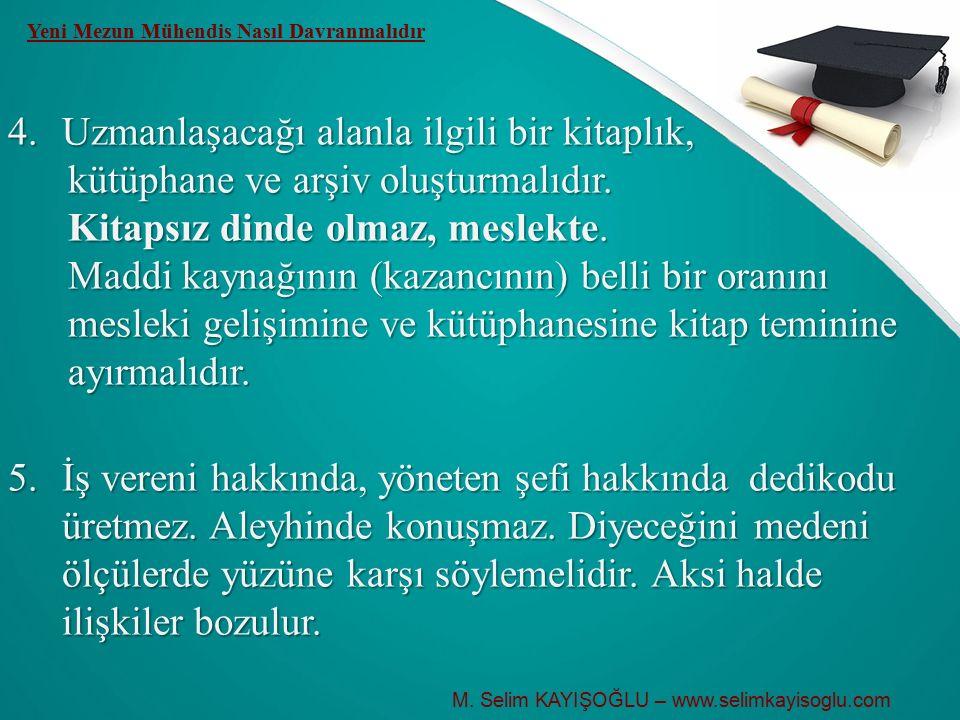 M. Selim KAYIŞOĞLU – www.selimkayisoglu.com