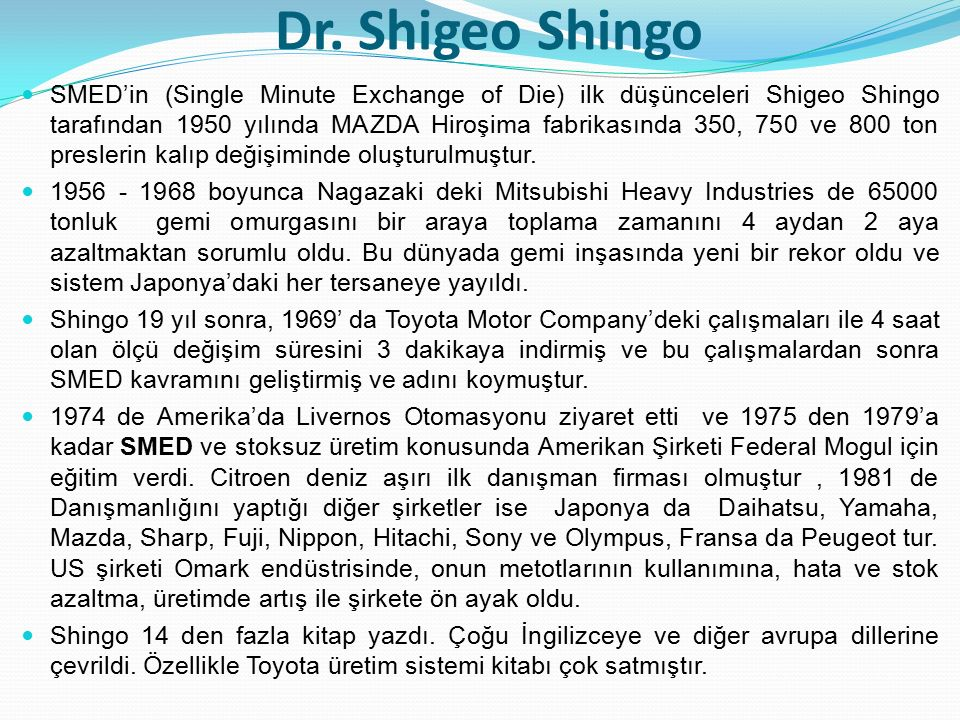 Dr. Shigeo Shingo