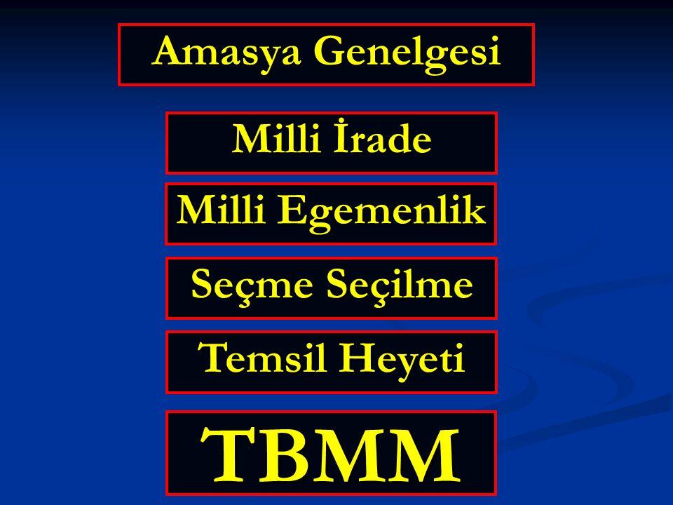 TBMM Amasya Genelgesi Milli İrade Milli Egemenlik Seçme Seçilme
