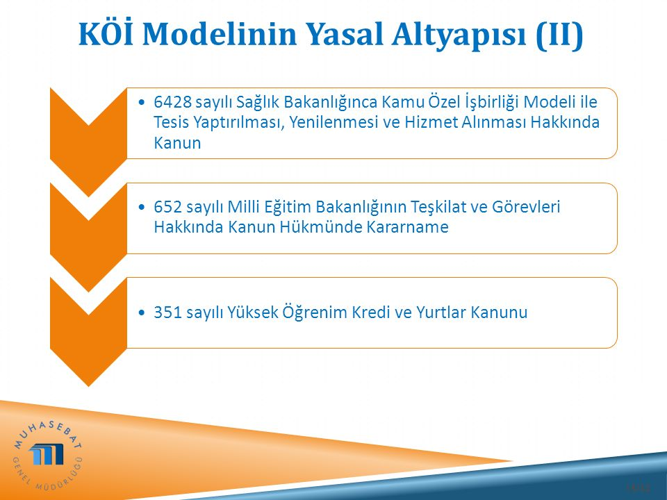 KÖİ Modelinin Yasal Altyapısı (II)