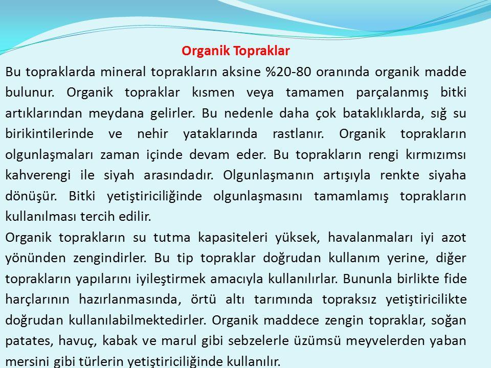 Organik Topraklar