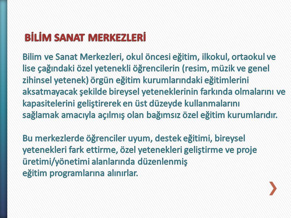 BİLİM SANAT MERKEZLERİ