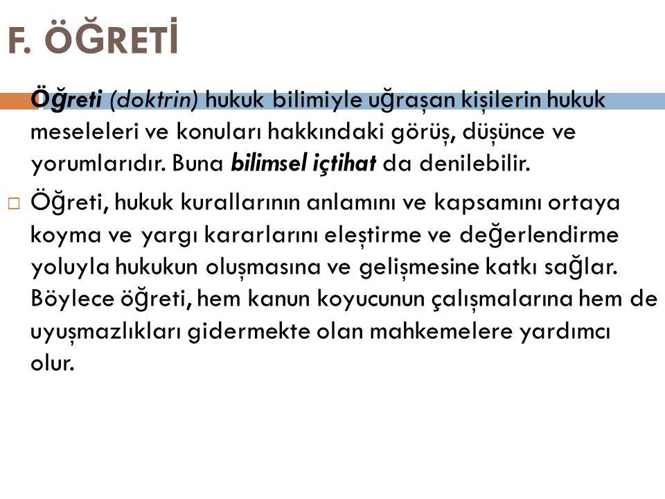 F. ÖĞRETİ