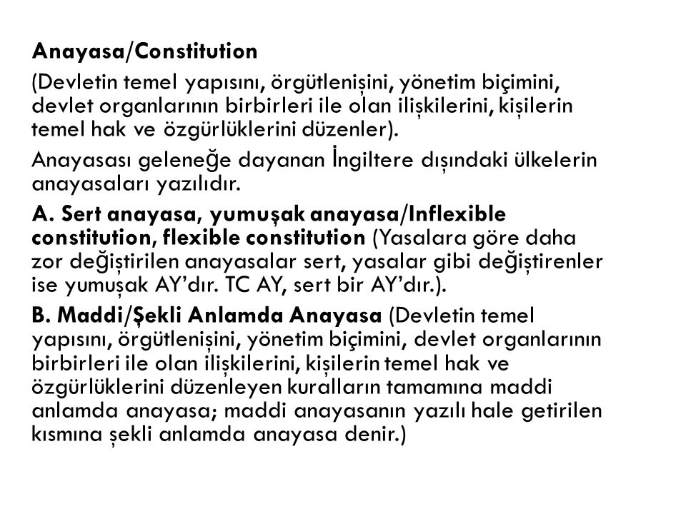 Anayasa/Constitution