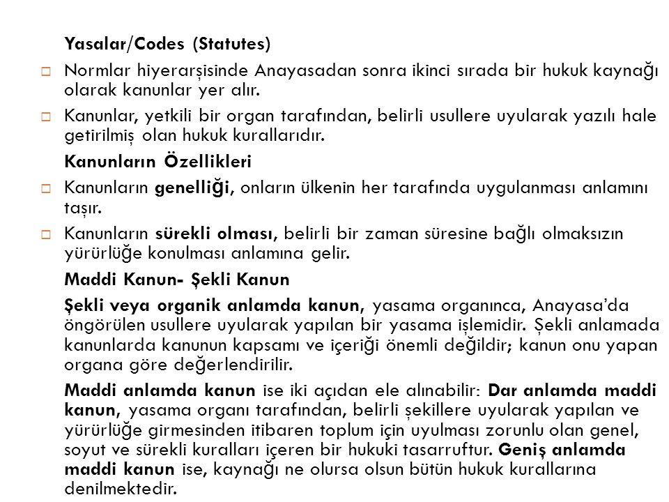 Yasalar/Codes (Statutes)