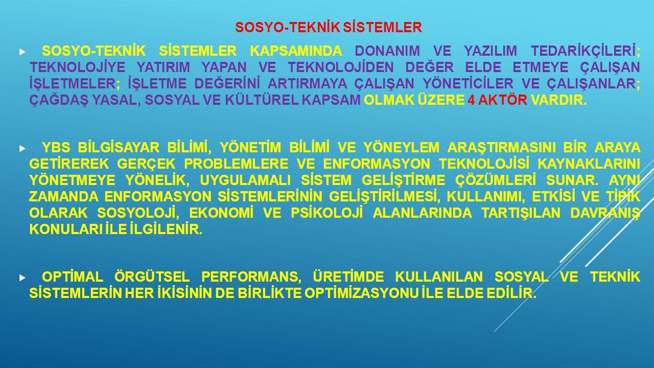 SOSYO-TEKNİK SİSTEMLER