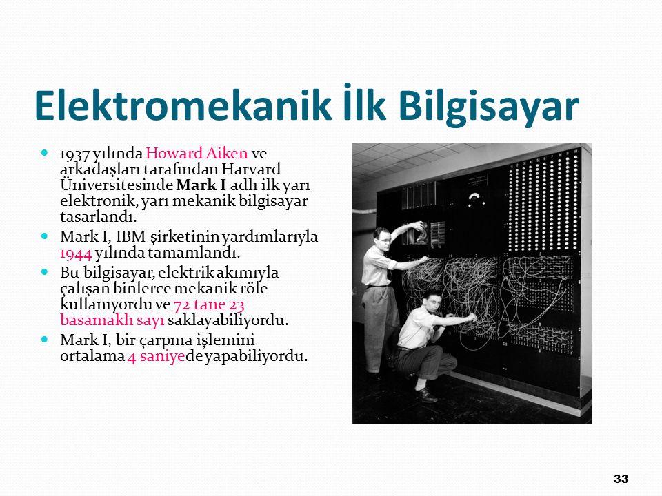 Elektromekanik İlk Bilgisayar