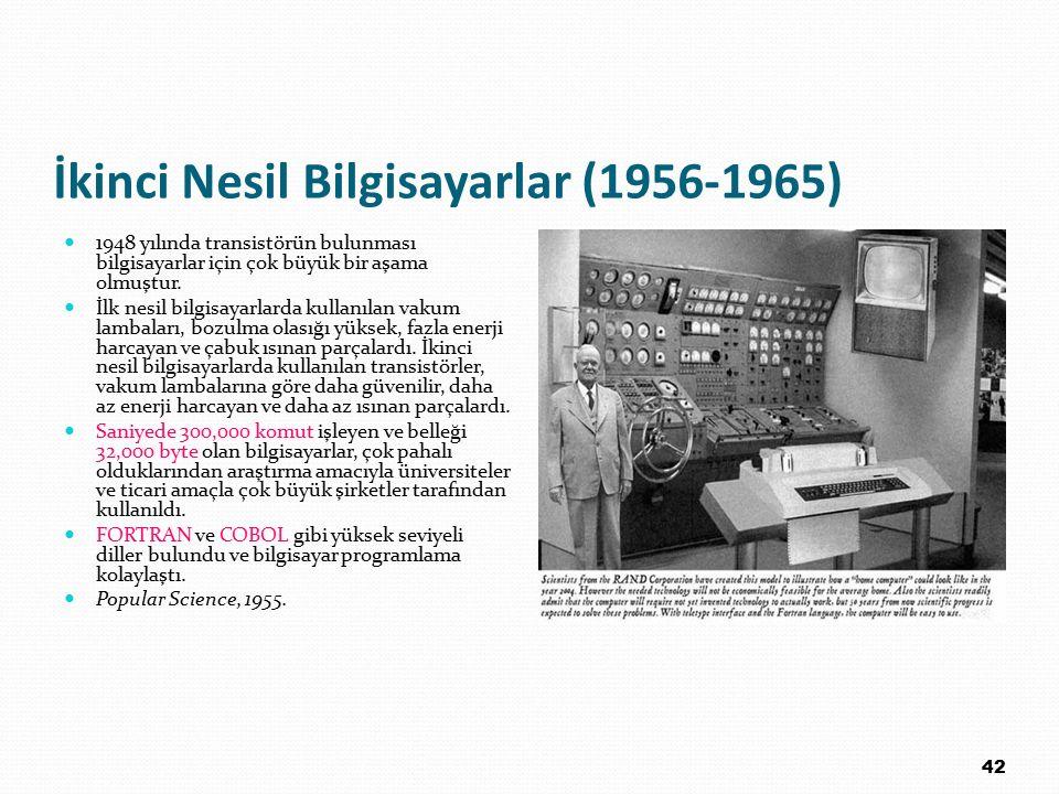 İkinci Nesil Bilgisayarlar (1956-1965)
