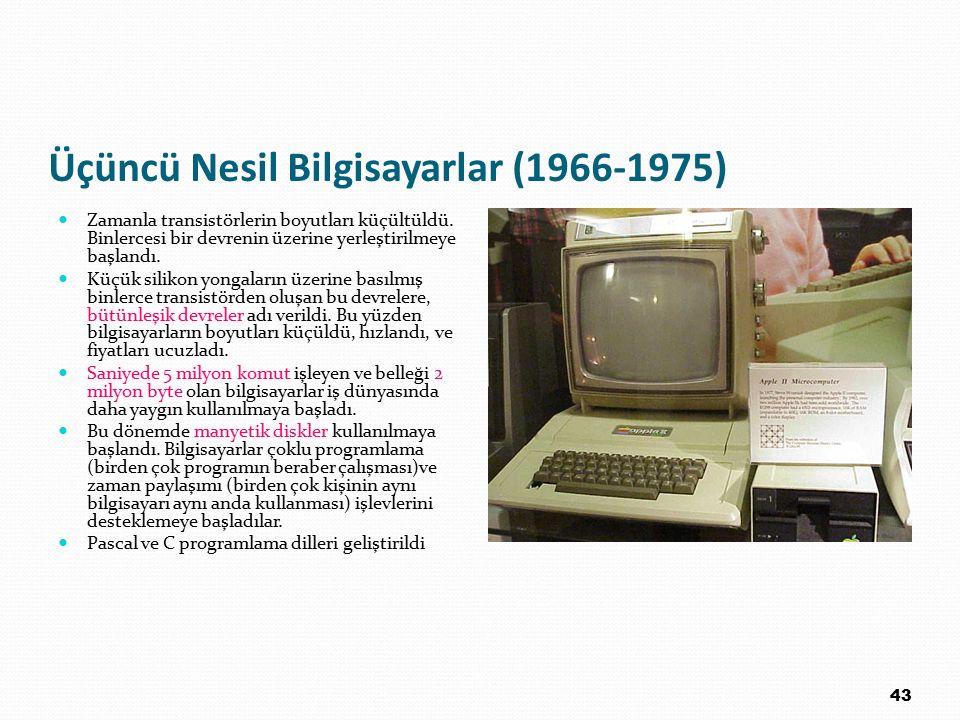 Üçüncü Nesil Bilgisayarlar (1966-1975)