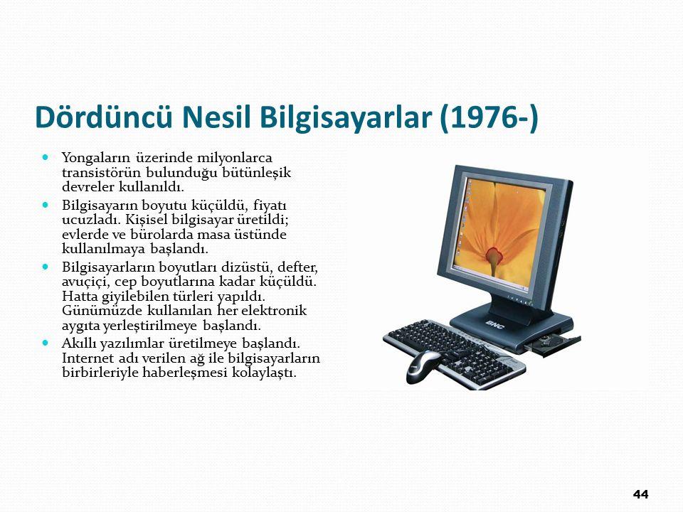 Dördüncü Nesil Bilgisayarlar (1976-)