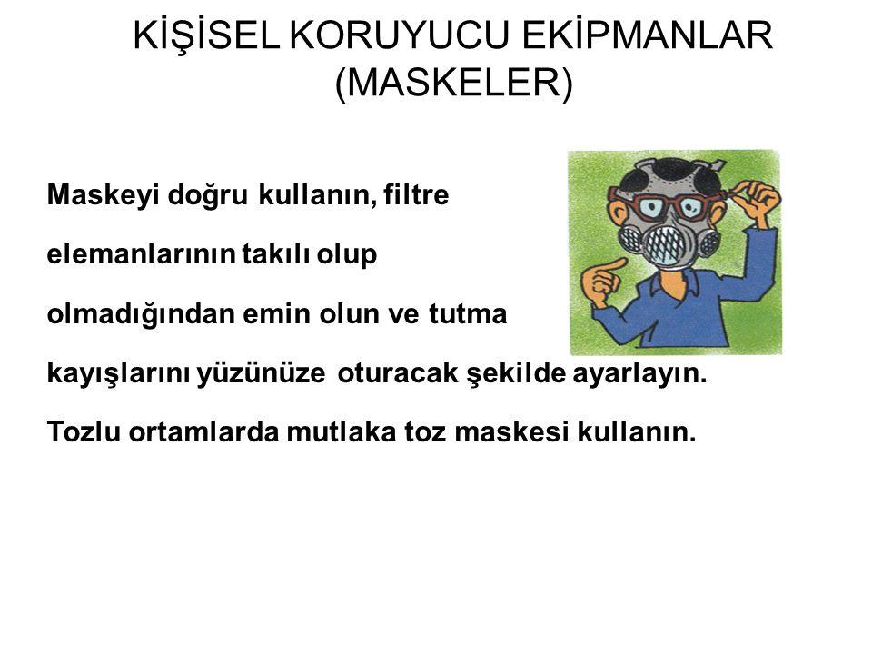KİŞİSEL KORUYUCU EKİPMANLAR (MASKELER)