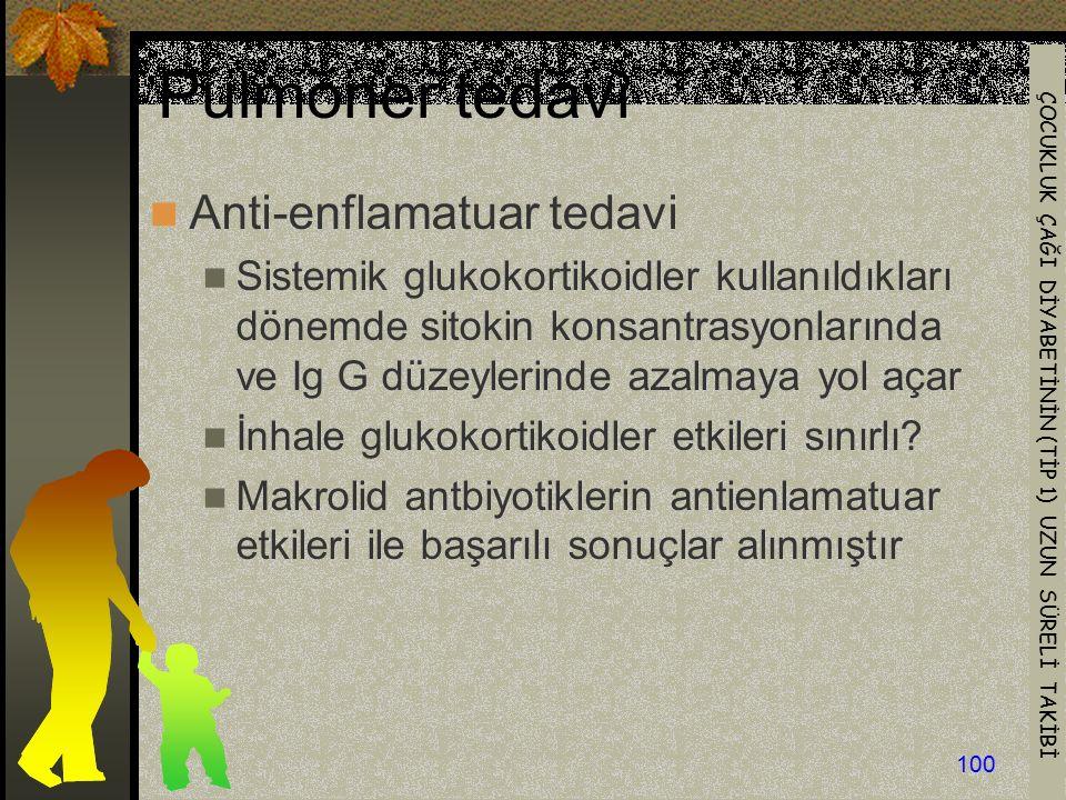 Pulmoner tedavi Anti-enflamatuar tedavi