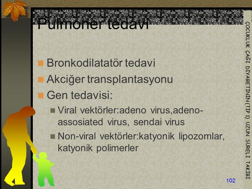 Pulmoner tedavi Bronkodilatatör tedavi Akciğer transplantasyonu