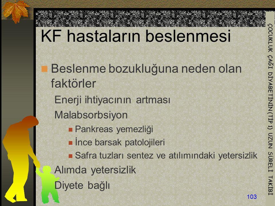 KF hastaların beslenmesi