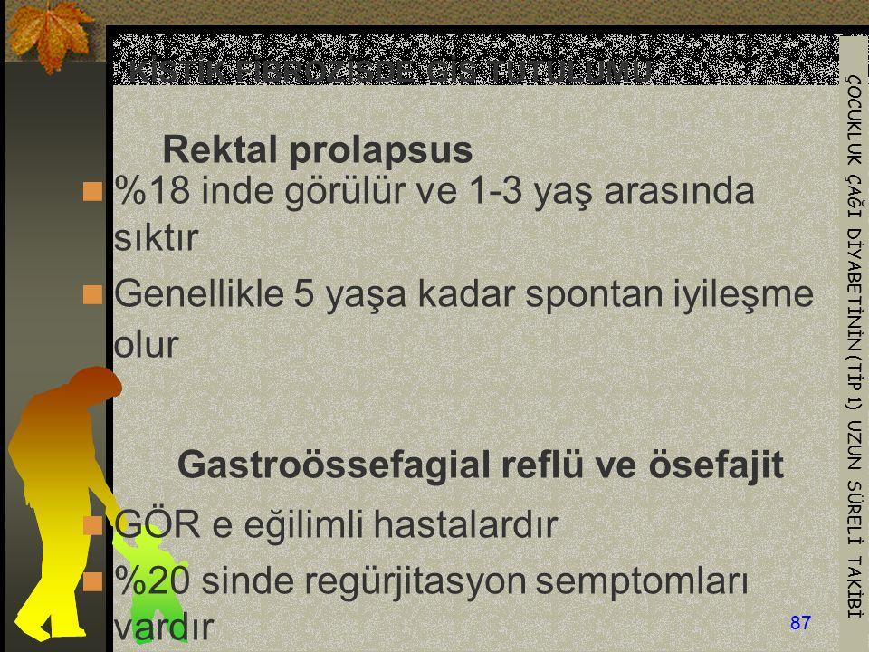 KİSTİK FİBROZİSDE GİS TUTULUMU Rektal prolapsus