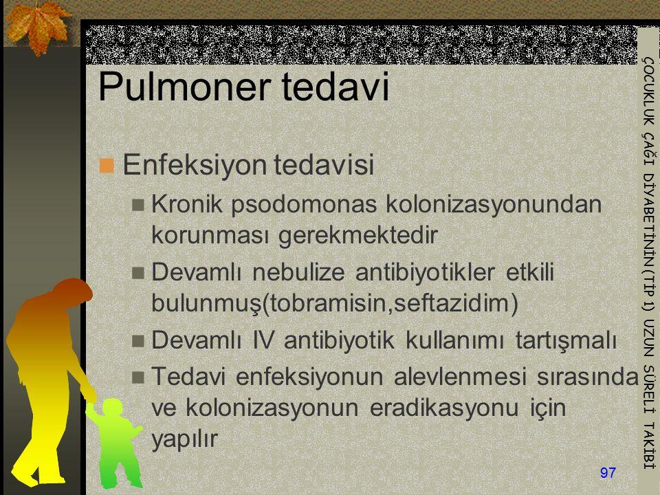 Pulmoner tedavi Enfeksiyon tedavisi