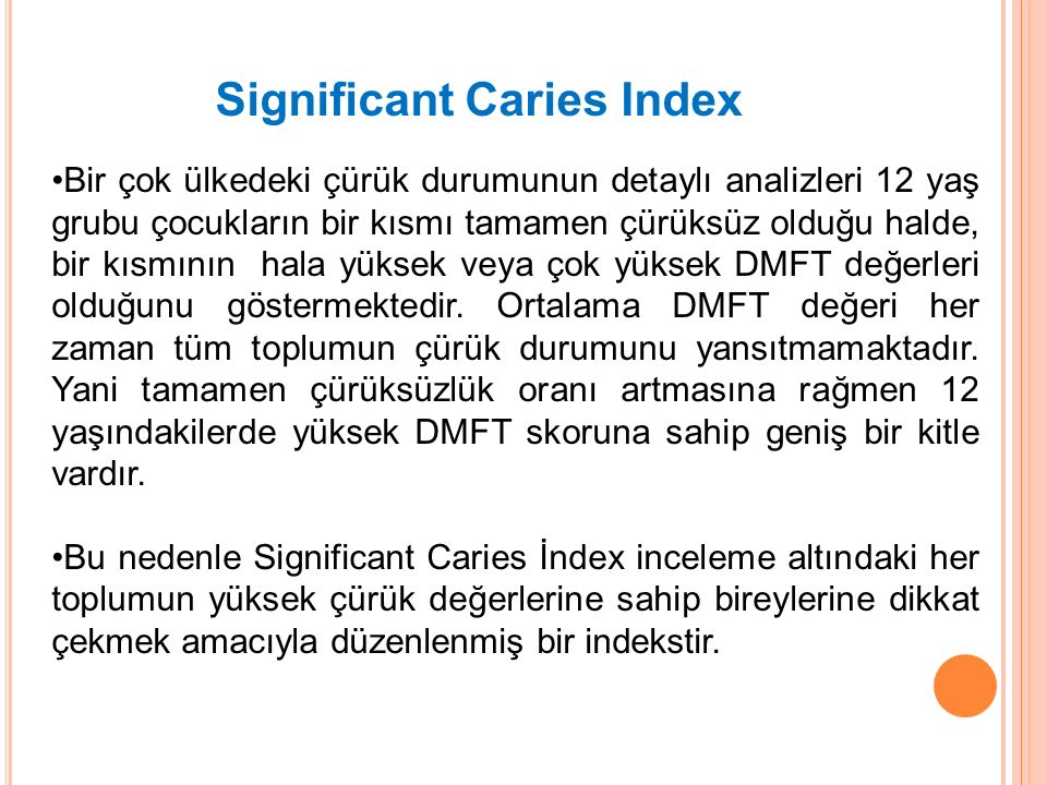 Significant Caries Index