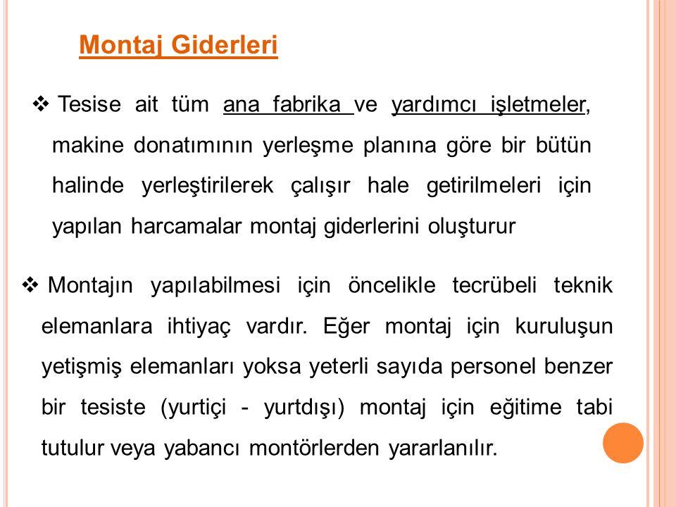 Montaj Giderleri