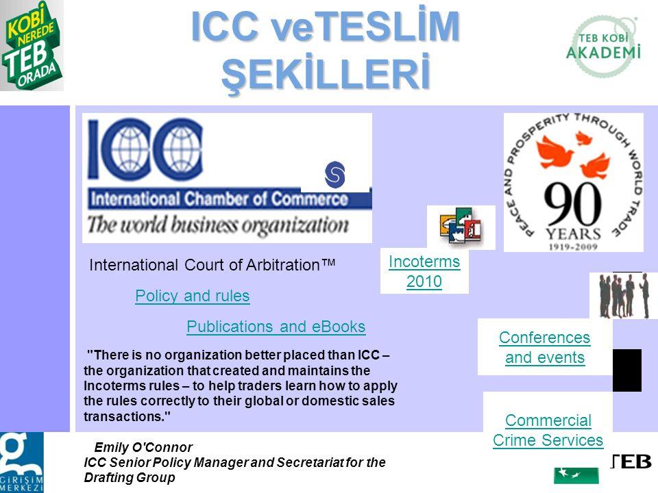 ICC veTESLİM ŞEKİLLERİ