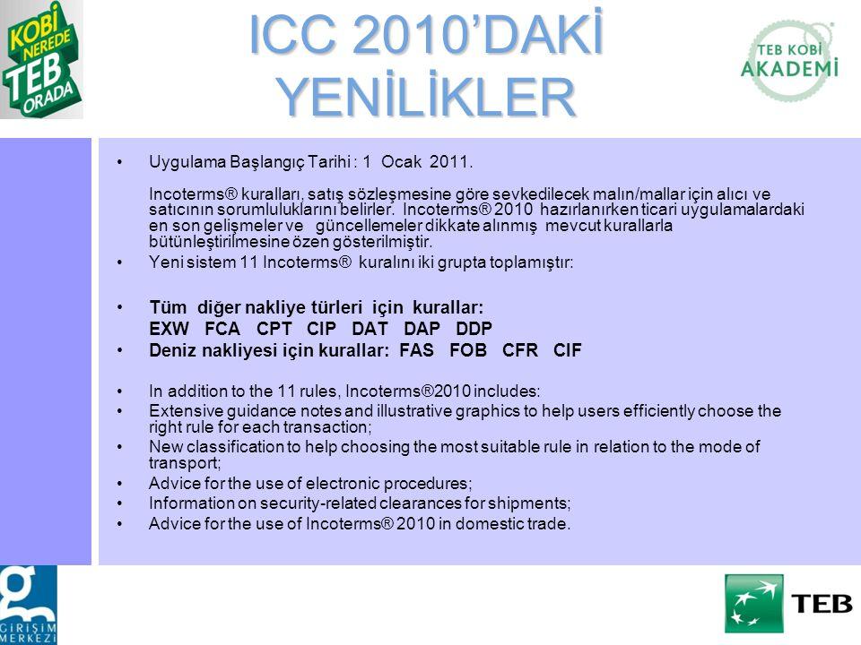 ICC 2010'DAKİ YENİLİKLER